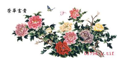 牡丹苏绣图案 手工刺绣图案 中国传统图案图片
