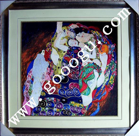 刺绣手工艺品|高档刺绣画|抽象立体装饰画