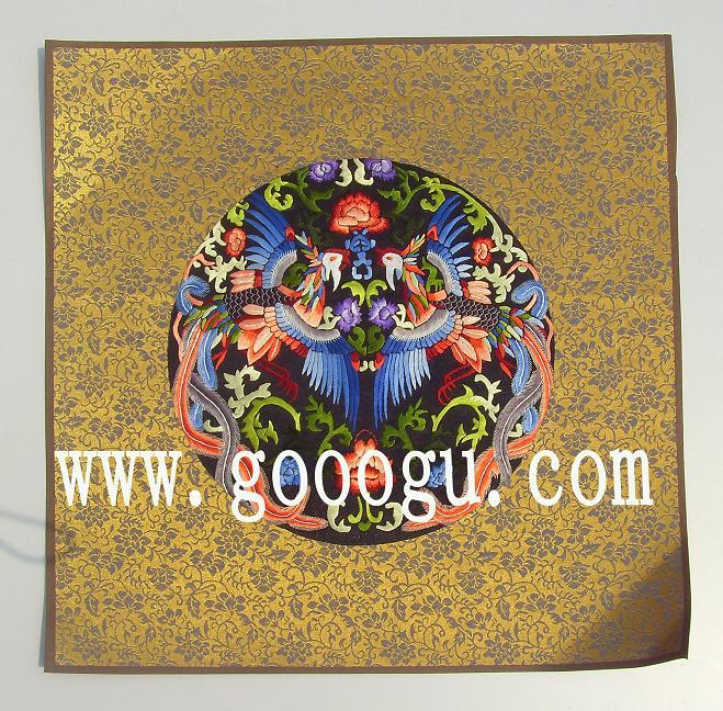 小软裱手工刺绣画,凤穿牡丹系列苏绣画,特色国礼-苏绣礼品 苏州娇图片