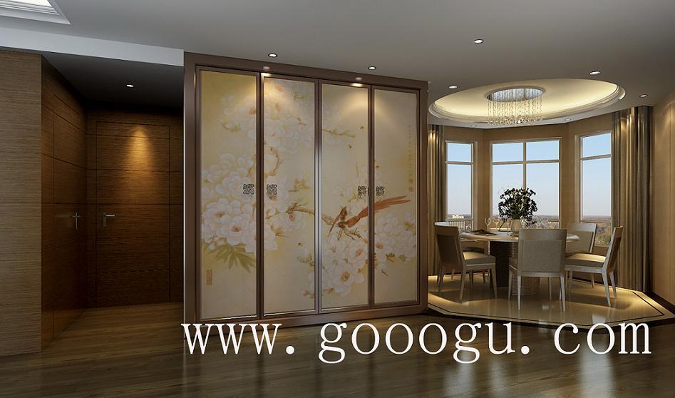 高檔臥室刺繡裝飾*高檔手工壁廚移門裝飾設計制作*
