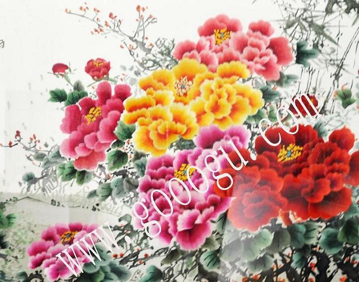 """牡丹是我国特有的木本名贵花卉,素有""""国色天香"""",""""花中之王""""的"""