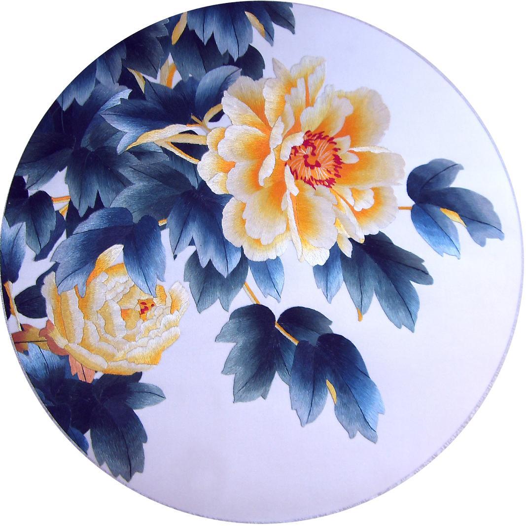 苏州刺绣工艺品|手工刺绣卷轴画|丝绸刺绣画