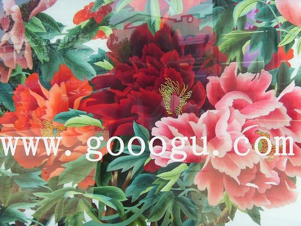 牡丹刺绣画 大型牡丹苏绣壁画