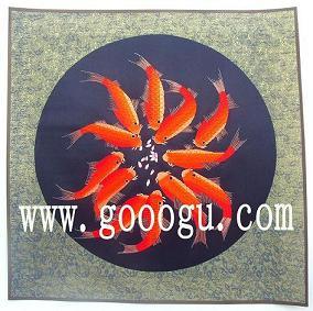 苏绣十二红鱼 苏州刺绣画 老外喜欢的礼物