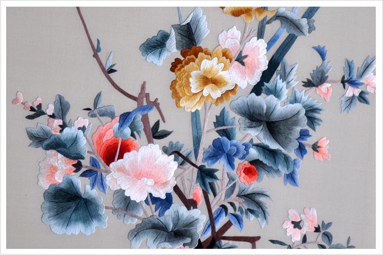 苏绣刺绣 中式装修客厅挂画 餐厅装饰画 送领导礼品 郎世宁午瑞图