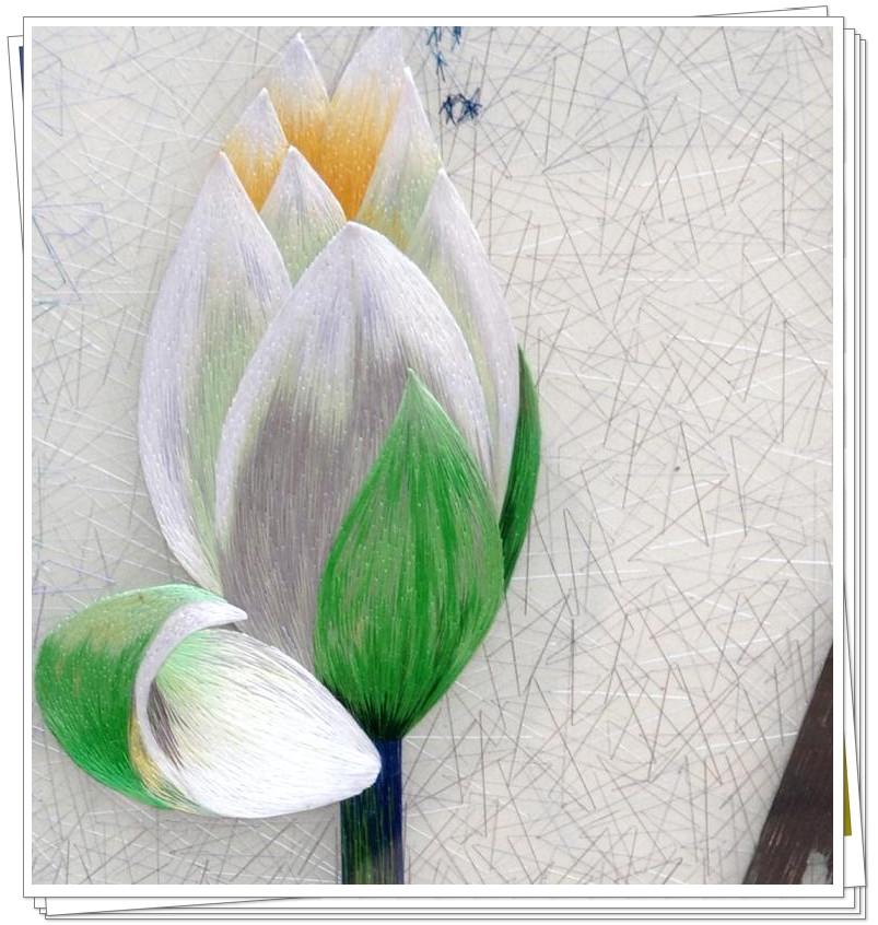 传统手工刺绣图案图片 - 韩尚街贴图论坛; 苏绣高档装饰画&精品荷花