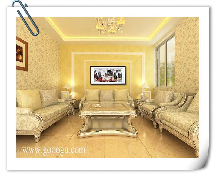 大型风景山水壁画&桂林山水画,风景画&中国风客厅装饰
