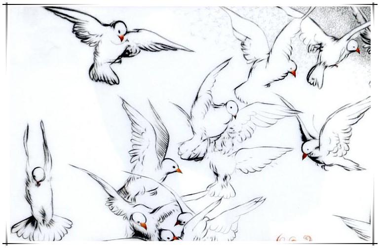 国画鸽子画法步骤